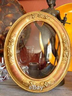 Superbe cadre Ovale ancien bois & stuc doré 66x56 XIXème tableau / antique frame