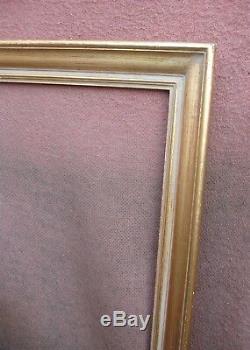 Superbe cadre des années 1950 / 1960 feuillure 70,6 x 52,7 cm