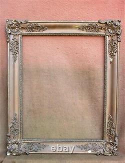 Superbe cadre doré de style Louis-Philippe feuillure 66 x 52,5 cm