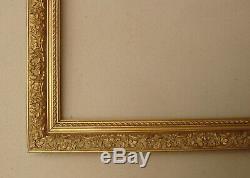 Superbe cadre en bois et stucs doré fin XIXe Siècle feuillure 49 x 39 cm