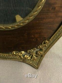 Superbe cadre photo XIXème style Louis XVI bois et bronze doré