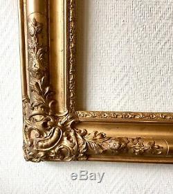 Superbe gand Cadre de style Louis XV bois et stucs dorés Epoque Milieu XIXe 19TH