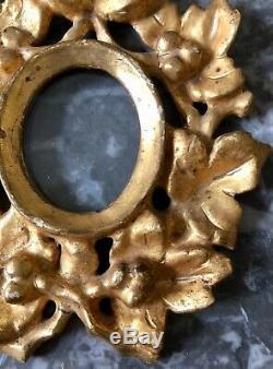TRES RARE cadre miniature bois sculpté doré Italie XVIIIe 18TH FRAME