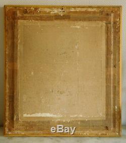 Tableau XIXe grand portrait royaliste du Roi Henri IV dans un cadre en BOIS DORE