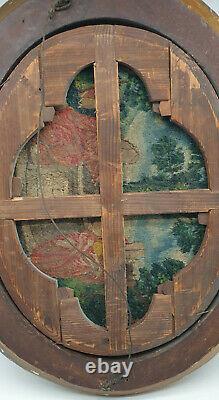 Tapisserie & cadre bois doré du XVIIe siècle Jésus et la Samaritaine