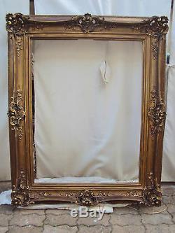 Tres Grand Cadre Style Louis Xv/bois Et Pltre/dorure Foncée Versailles