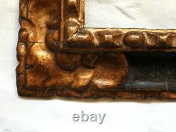 Très RARE CADRE en SAPIN sculpté, doré et noirci, ESPAGNE, époque 17ème siècle