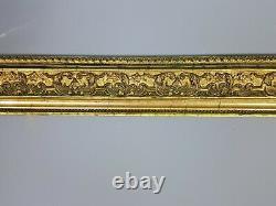 Très grand cadre ancien bois et stuc doré 71x59cm feuillure 59x47,7 cm B26