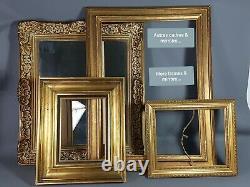 Très grand cadre bois et stuc doré 92x77 cm, feuillure 65x50 cm Trés bon état S