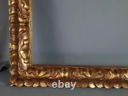 Très grand cadre bois sculpté doré 77x65 Feuillure 61,3x50,4 cm Très bon état SB