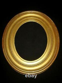XIX Beau Et Large Cadre Bois Dore Ovale Louis XVI Antique French Frame