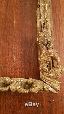 XVIII ème s, cadre ancien en bois sculpté doré